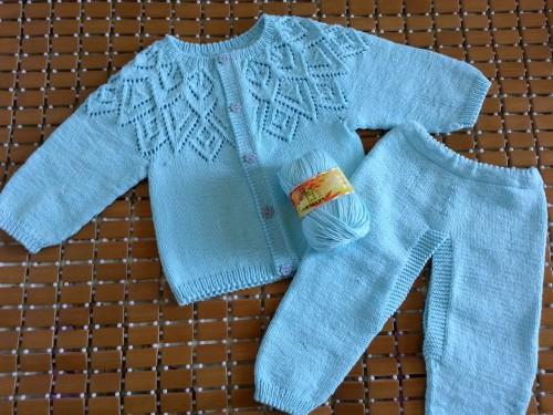 转:我家宝宝的第二套衣服来啦!(仿张金兰开衫,有编织方法) - 随心索衣 - 随心索衣