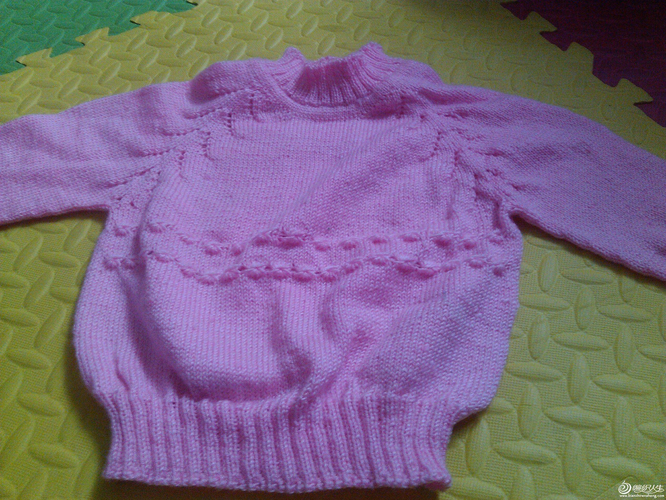 69 儿童服饰编织交流 69 儿童毛衣(棒针) 69 女儿的从上往下织