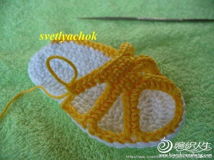 钩bb凉鞋 教你如何用钩针法给宝宝织一双凉鞋 【毛线编织】一款夏天