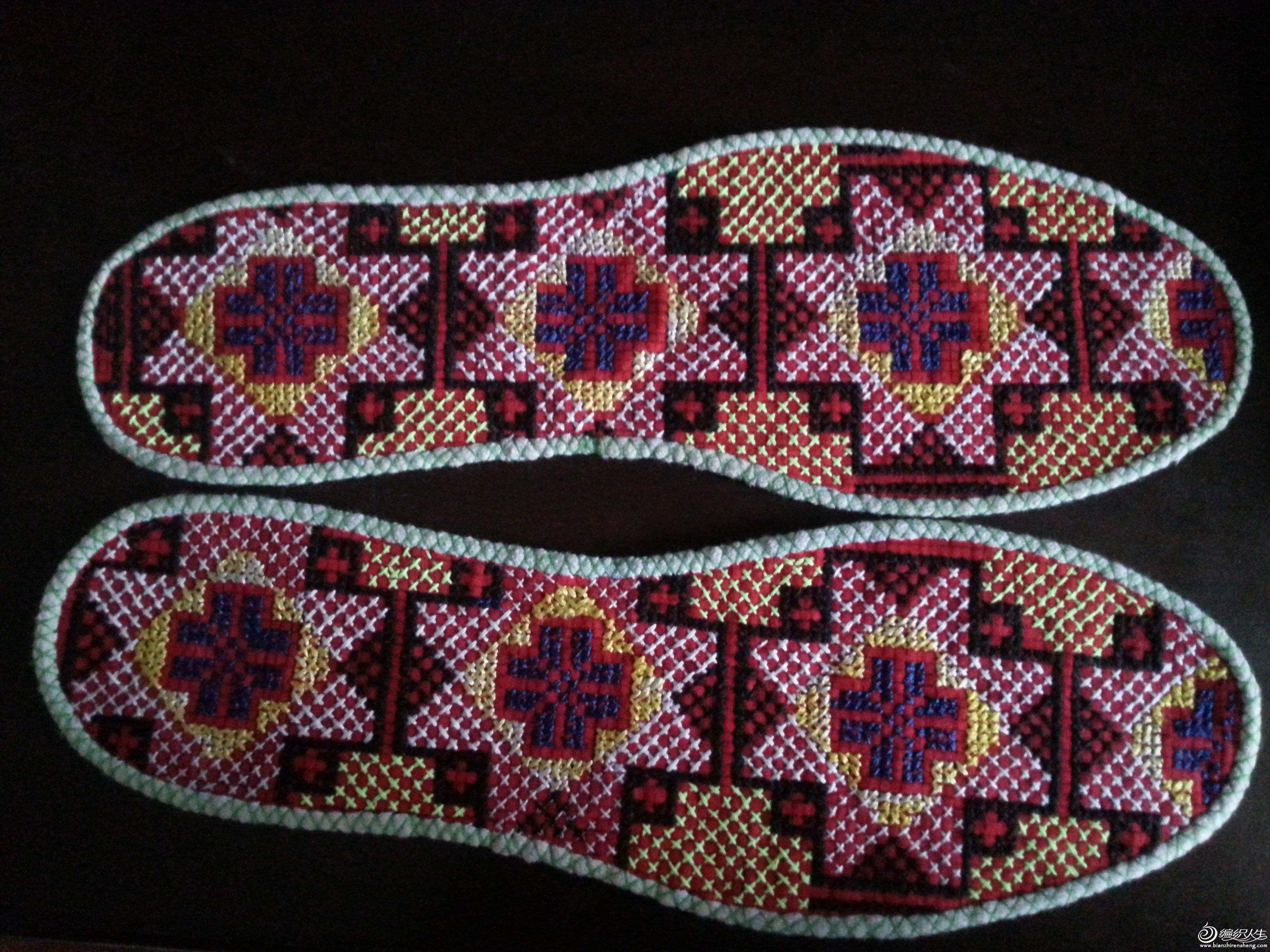 十字繡鞋墊圖案型號35 45