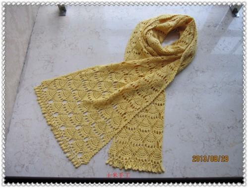 [围巾] 土米手工---一款漂亮的长围巾(有图解 添加了一张图解) - yn595959 - yn595959  彦妮