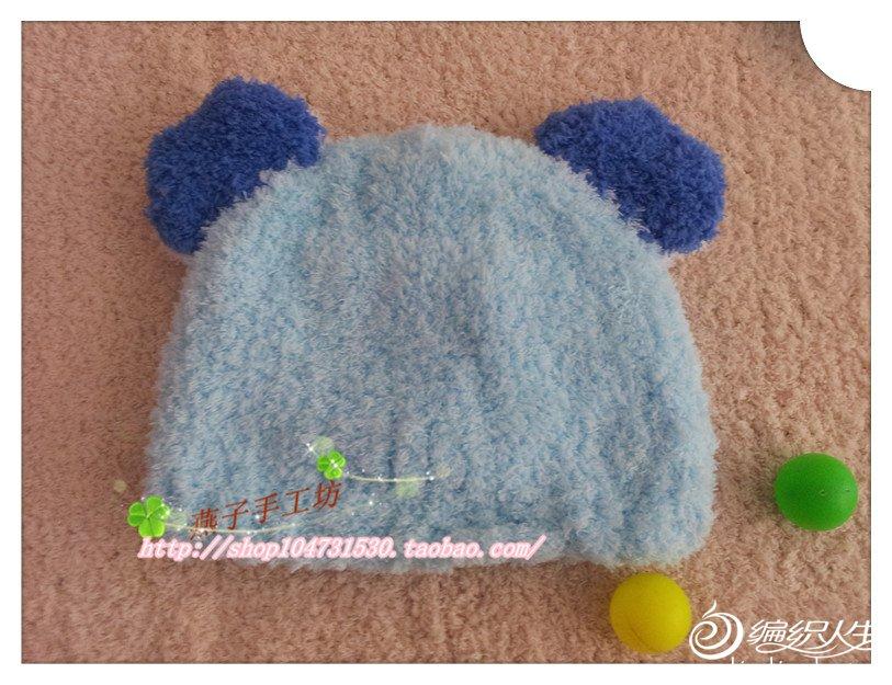 棒针编织的宝宝帽子