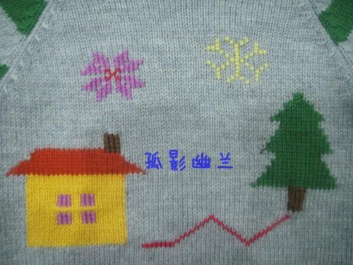 孤影幽兰----绿搭灰----宝宝配色毛衣 - 静夜思梦 - 以编为趣