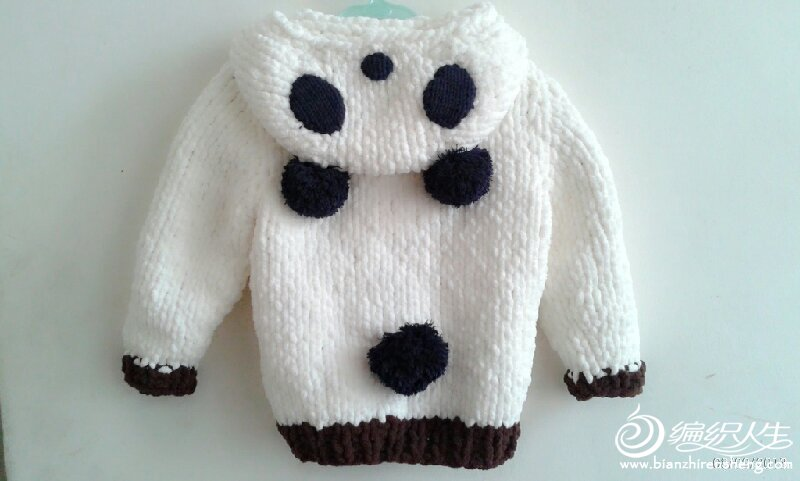 熊猫马甲编织