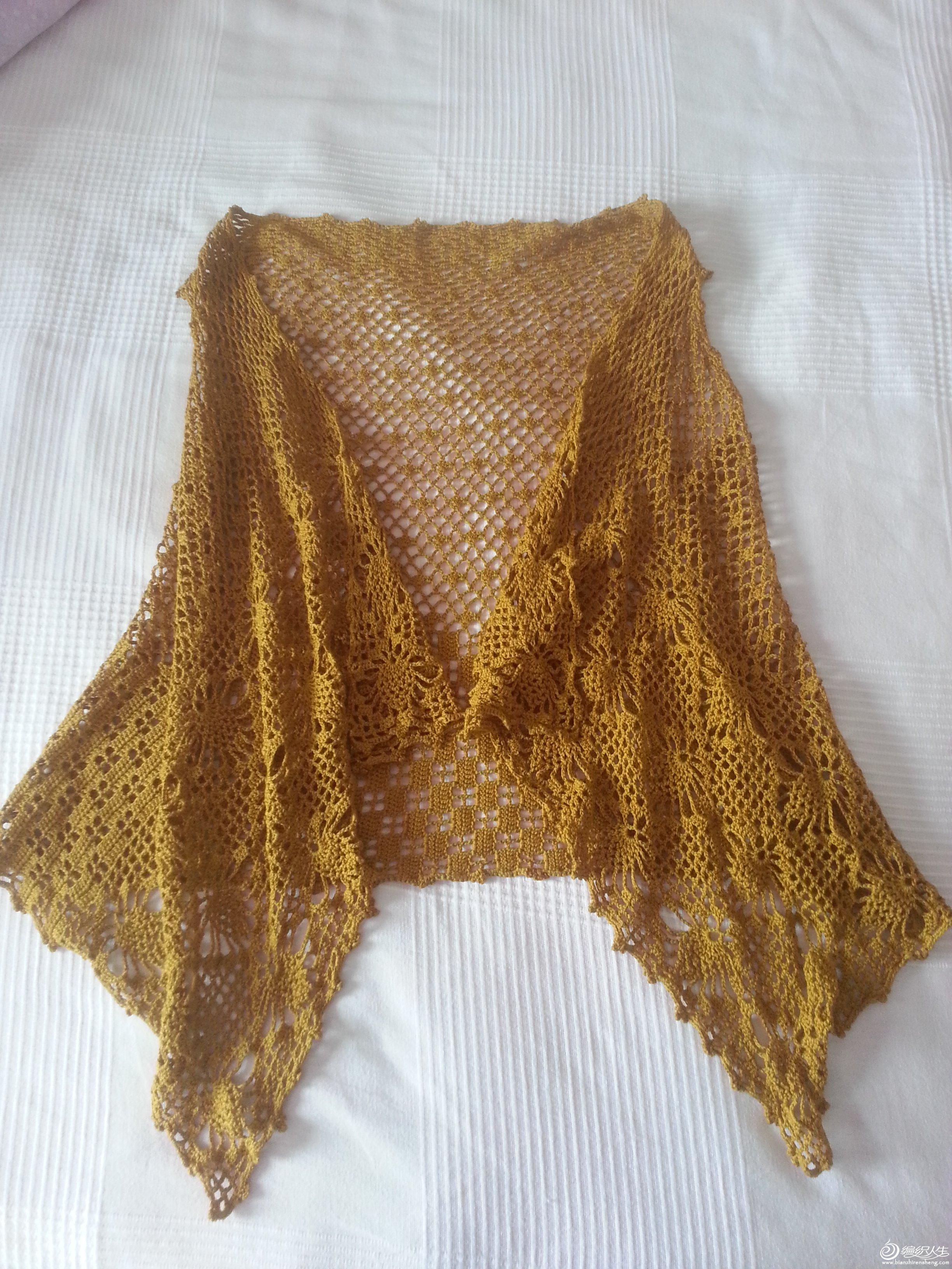 围巾菠萝花针织法步骤图