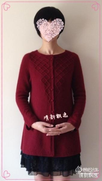 转编织人生清新飘逸的红菱开衫 - wang.680205 - 缘分天空的编织小屋