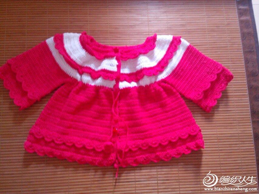 出售女宝宝钩针外套裙子1-3岁宝宝好穿