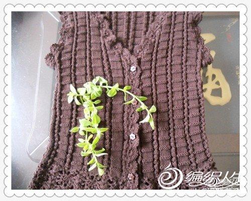 女宝宝毛线背心裙钩织