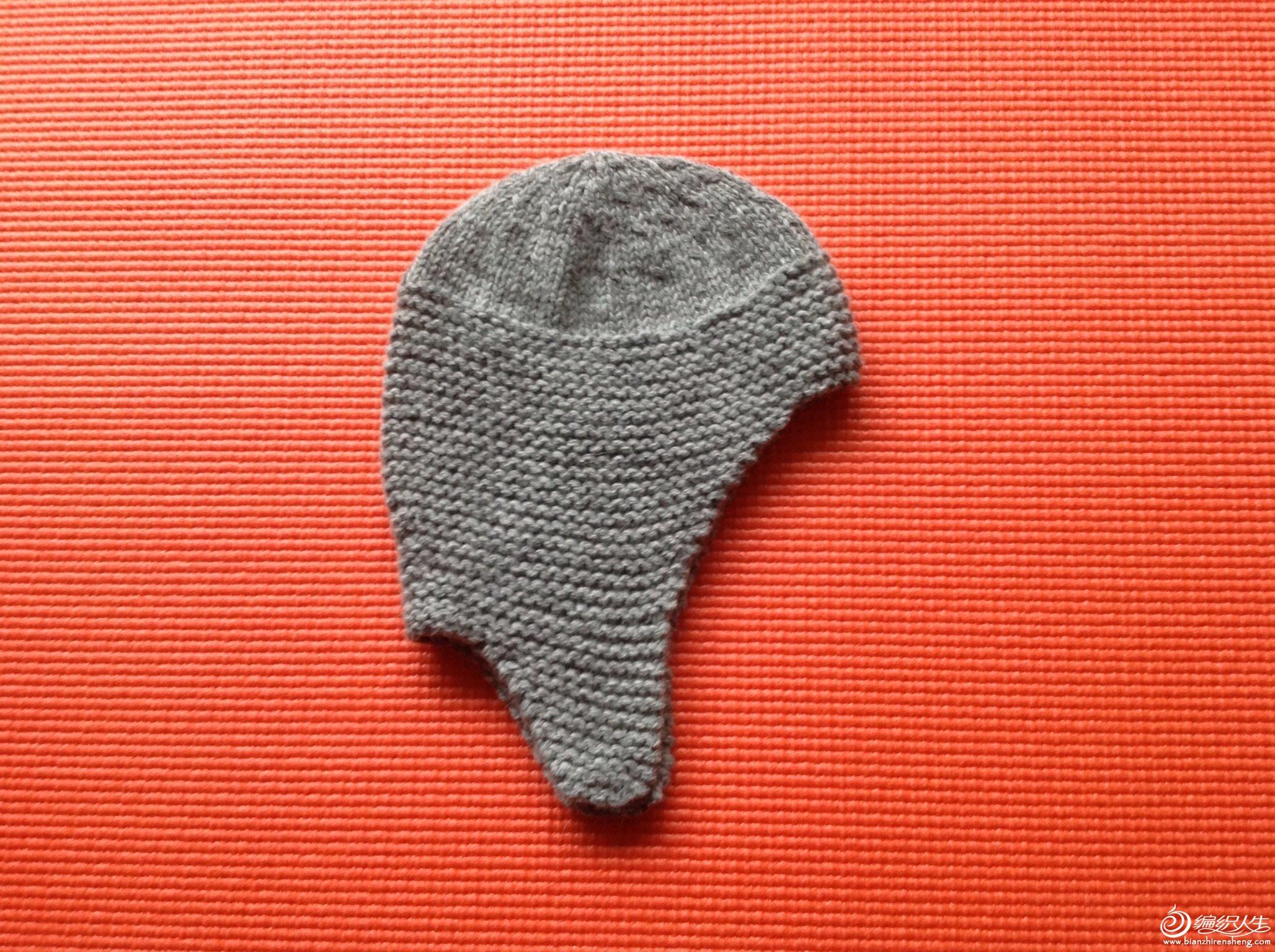 棒针宝宝护耳帽