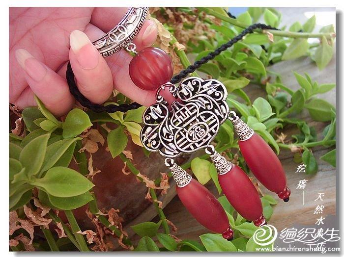 古色古香红玛瑙如意锁--复古民族风毛衣链4.jpg