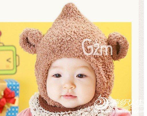 求这款小熊帽子编织方法