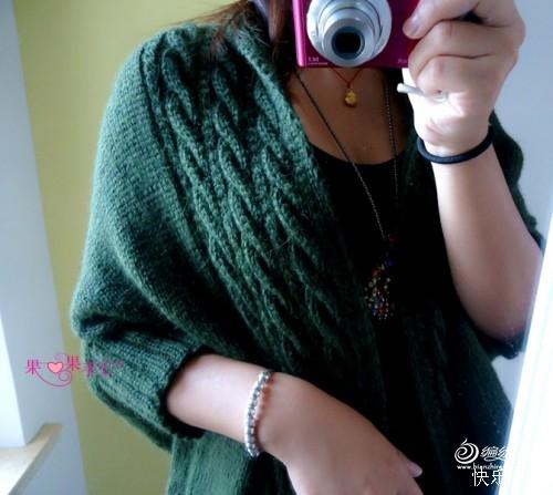 [女式毛衣] 【果果手工】——墨痕(披肩式外套) - yn595959 - yn595959  彦妮