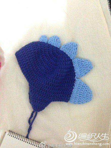 仿国外网站的小恐龙儿童帽子,很可爱的哦!有图解_编织