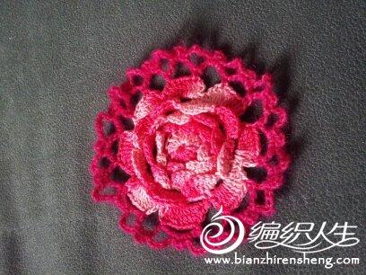 61  七月七 七朵小玫瑰花的钩法(有图解) 61