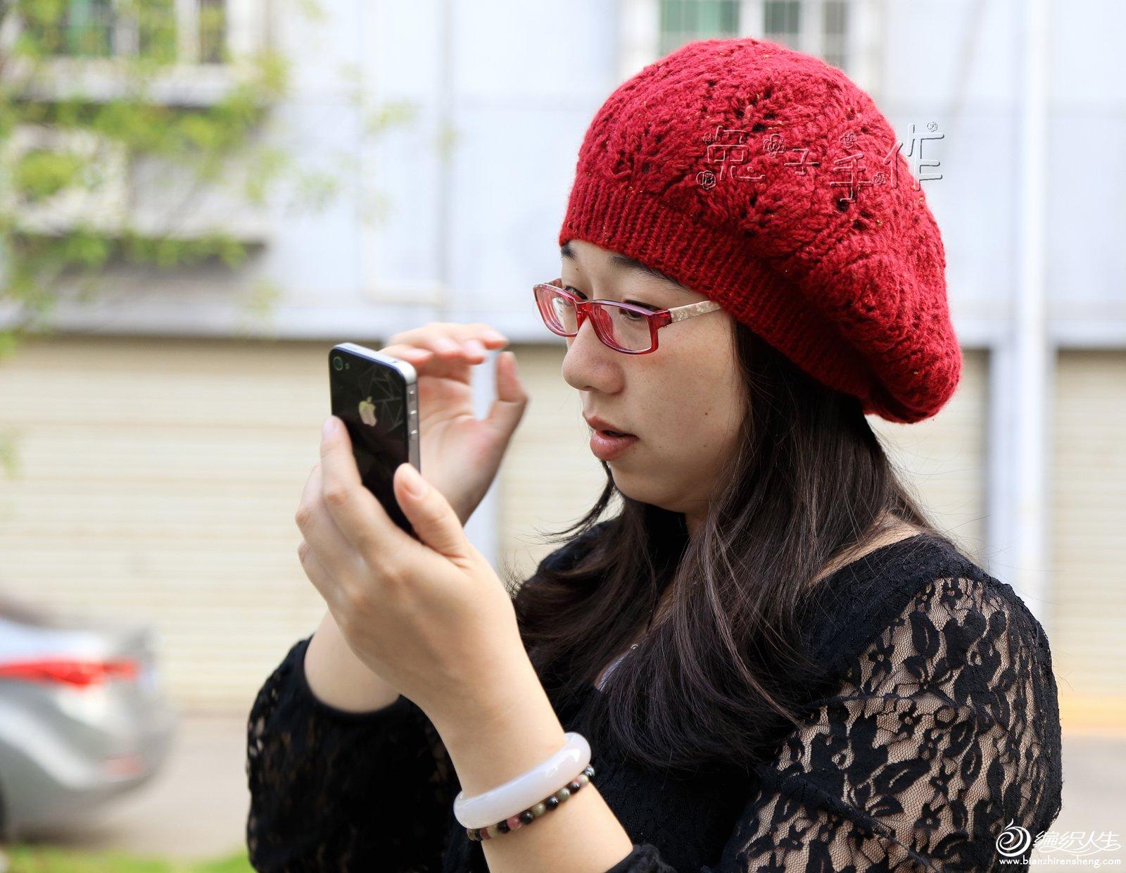 69 披肩围巾帽子(棒针) 69 [兔子*手工]红叶帽~~叶子花型贝雷帽