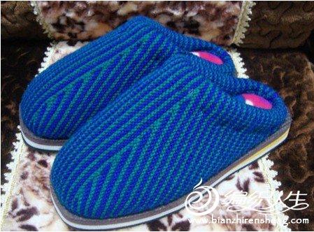 编织毛线棉鞋教程