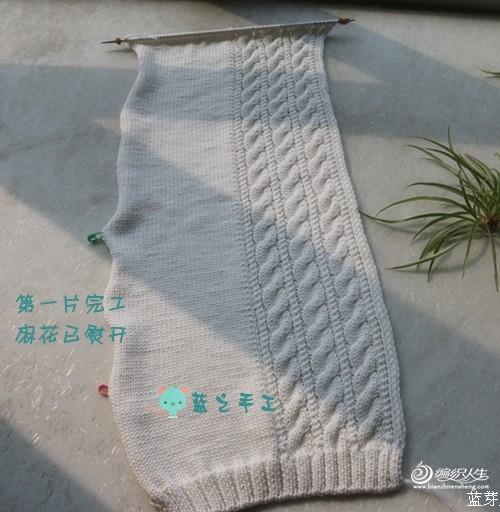 【蓝】裁诗——披肩式外披(转自编织人生  蓝芽芽) - joy - 雨薇妈的博客
