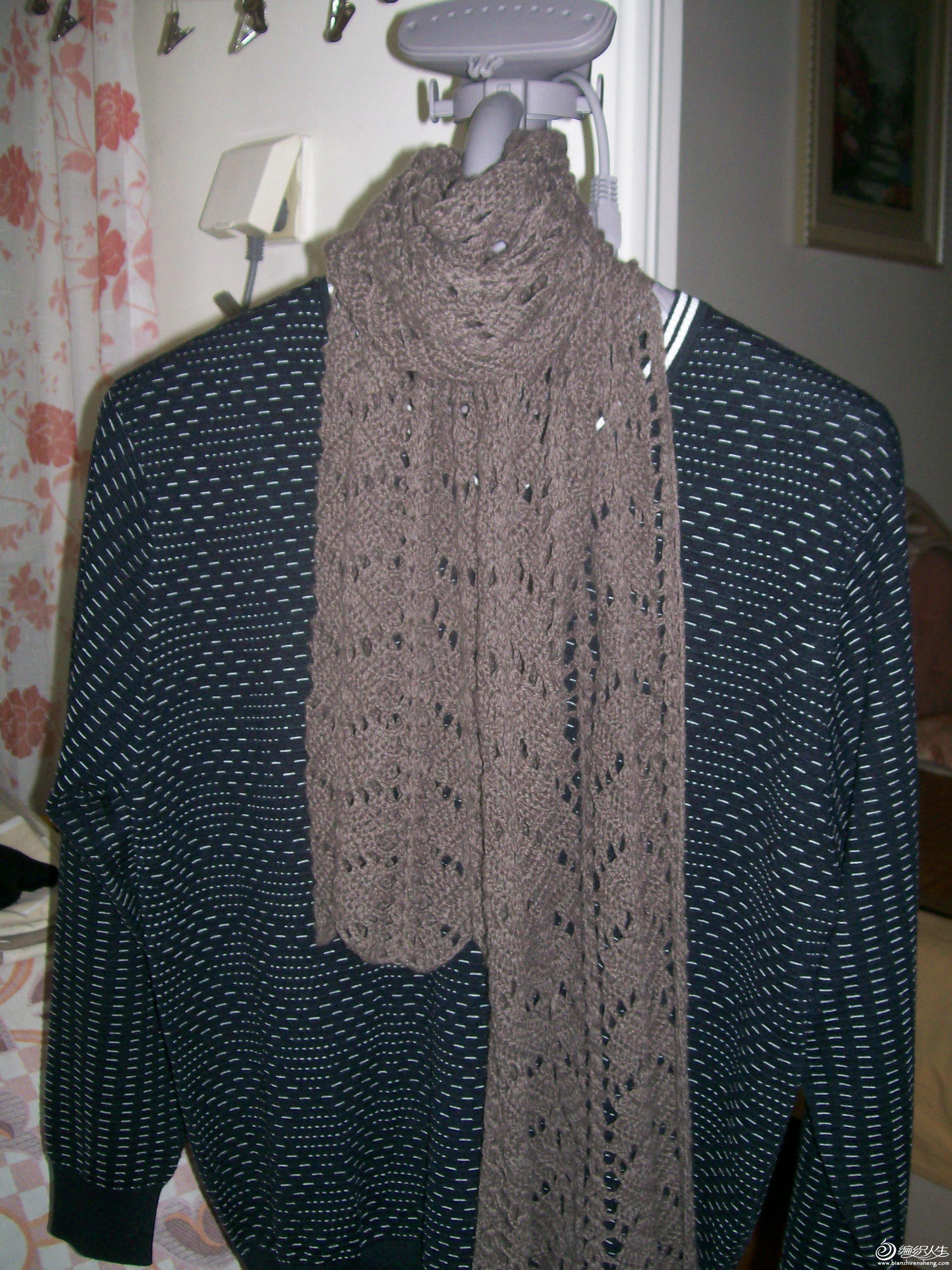 男士咸菜色纯羊毛围巾:尺寸:180*30,售价:105