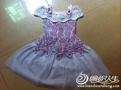 公主裙彩色手绘
