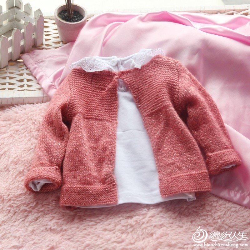 69 (棒针)女装图库 69 婴儿针织毛线衣轻柔反穿式小披肩宝宝外套