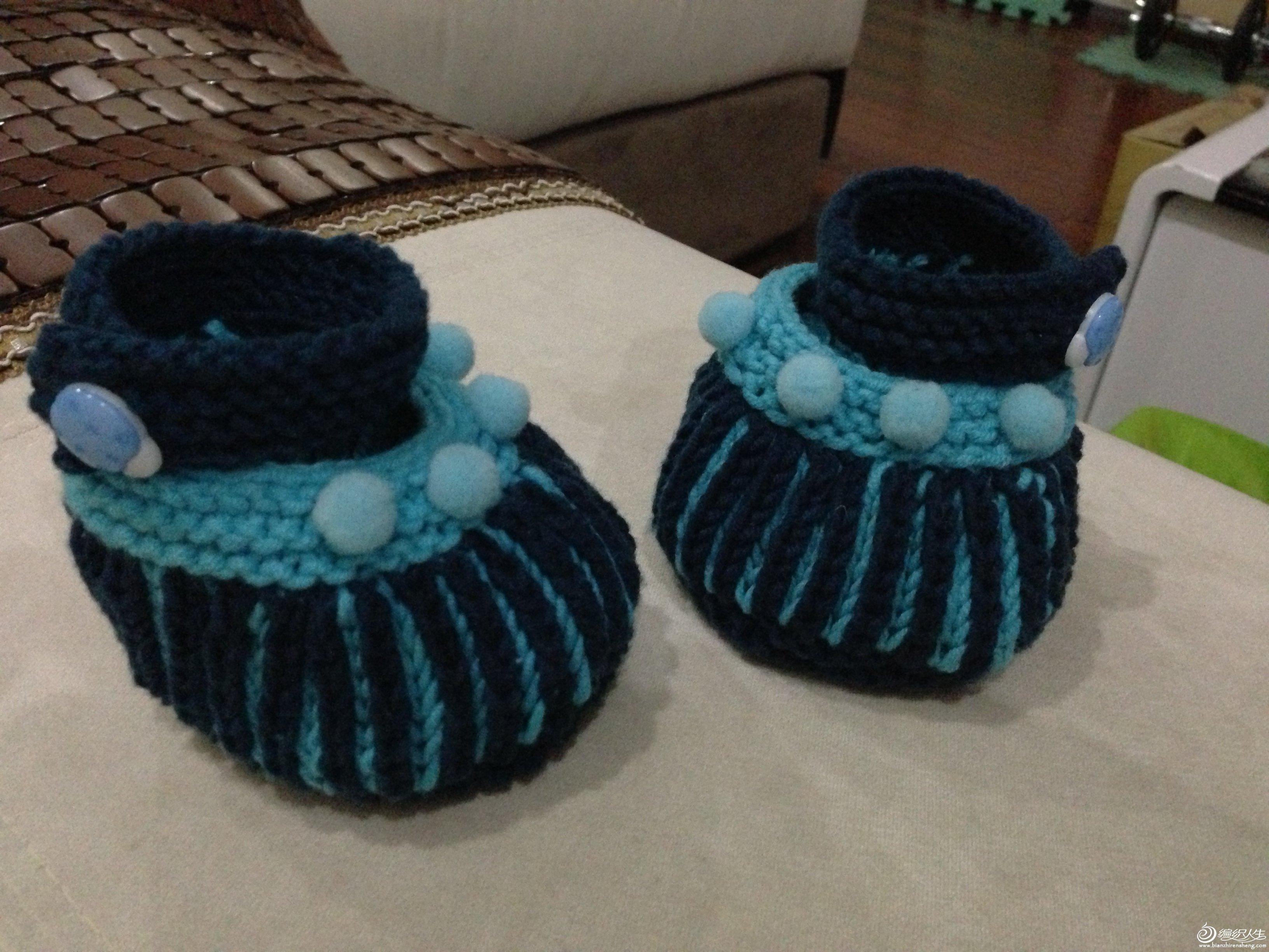 新人晒帖,给宝宝织的小鞋子