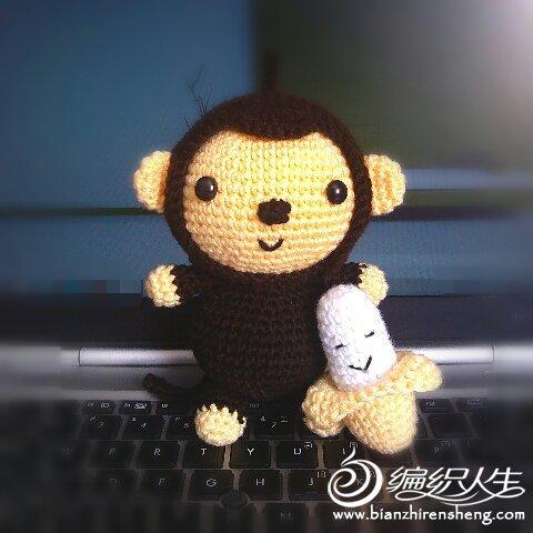 小猴子吃香蕉