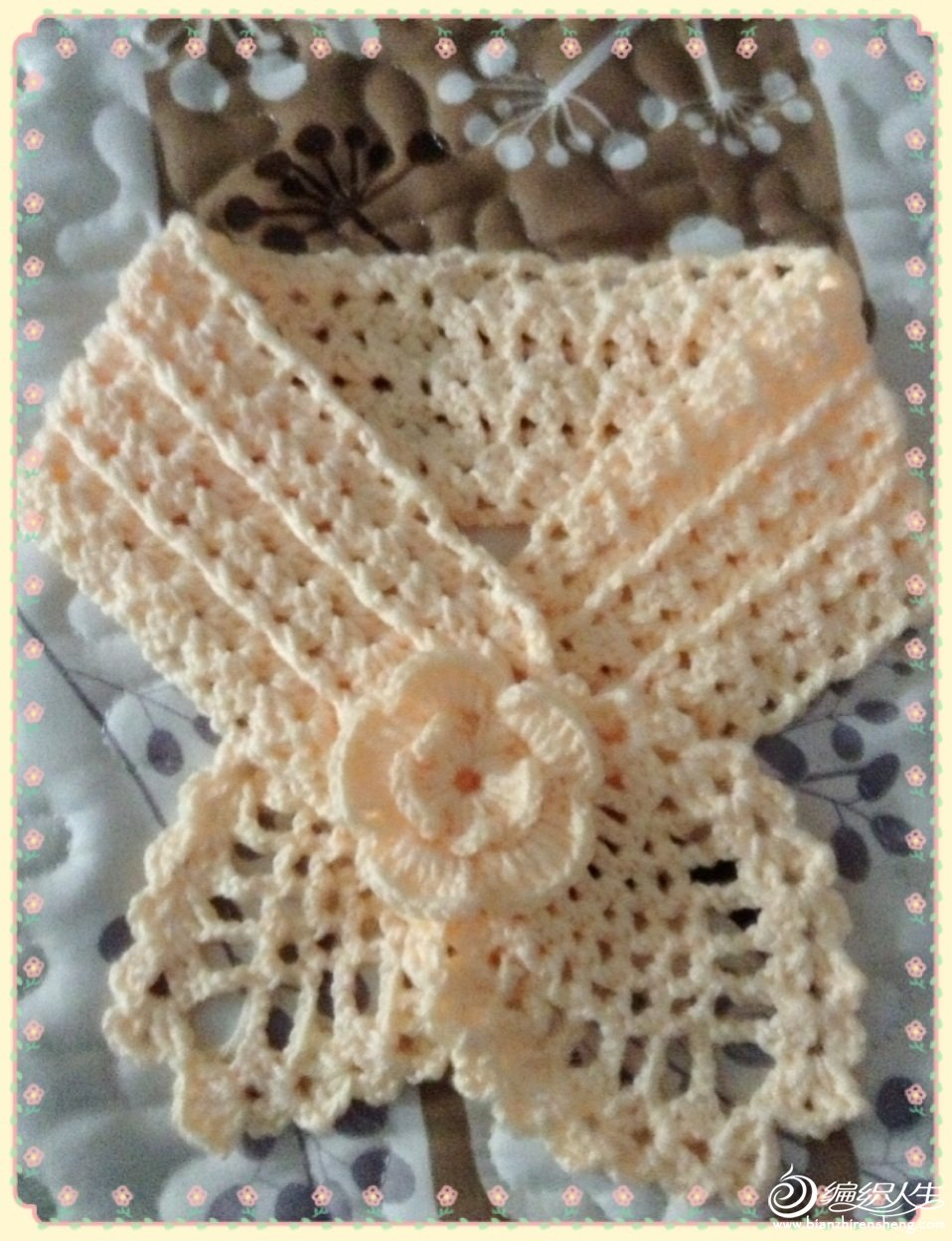 【引用】成人与儿童的一款简单漂亮的小围巾 - 壹一 - 壹一编织博客