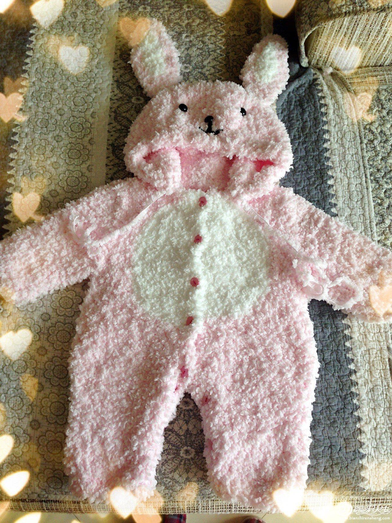 珊瑚绒小熊马甲和兔子连体衣
