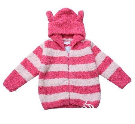 69 编织视频教程 69 想要最基本的珊瑚绒线织宝宝连帽外套