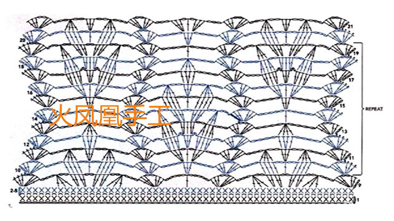 69 披肩围巾帽子(钩针) 69 枫叶红(有图解)——火凤凰手工