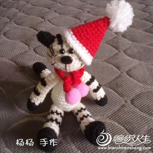 69 玩偶作品&团做 69 钩针团做-----圣诞猫(结束)    帽子钩的有