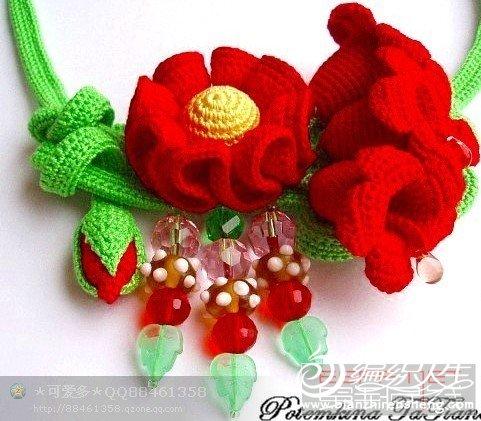 钩针编织 花卉高清图片