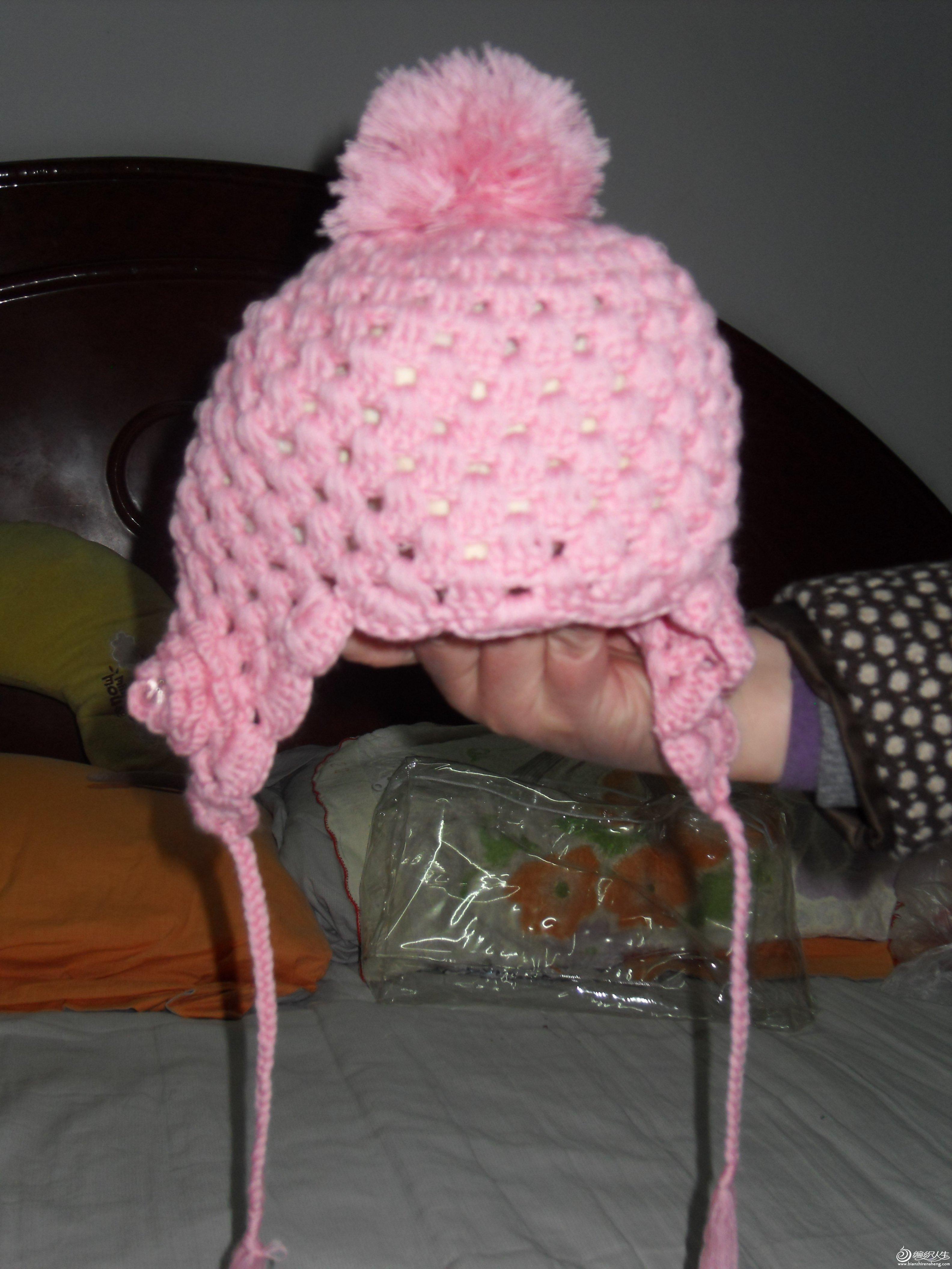 钩针婴儿群,外加小帽子一个高清图片