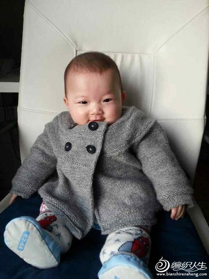 婴幼儿棒针开衫毛衣