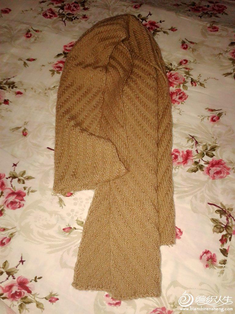 男士围巾图 - 编织人生