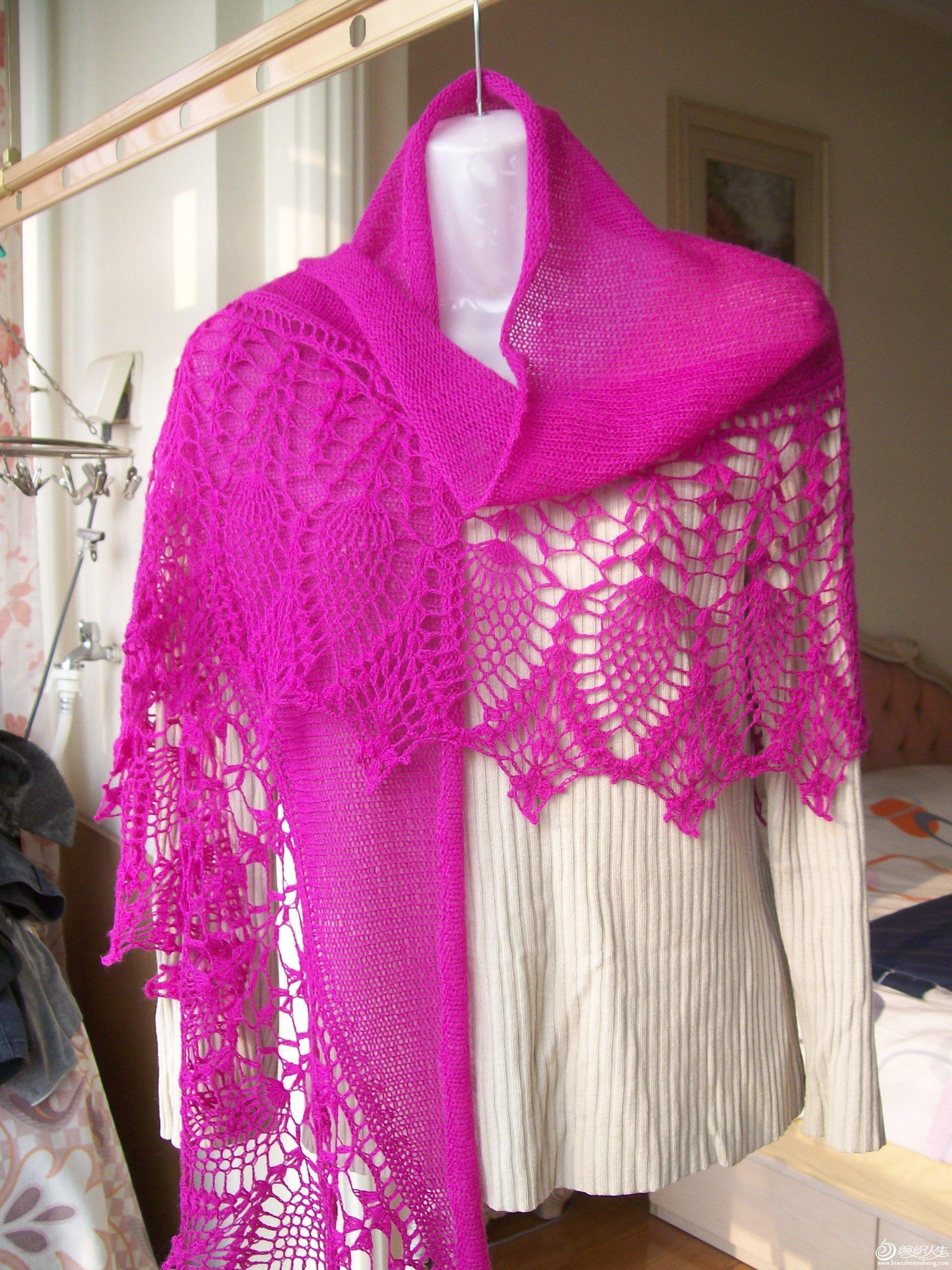 丝光纯羊毛月萝披肩,售价:120