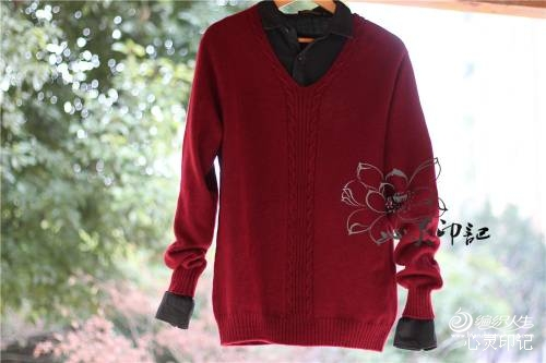【心灵印记】闲庭——男款小鸡心领羊绒衫 - xrzs000 - 心如止水