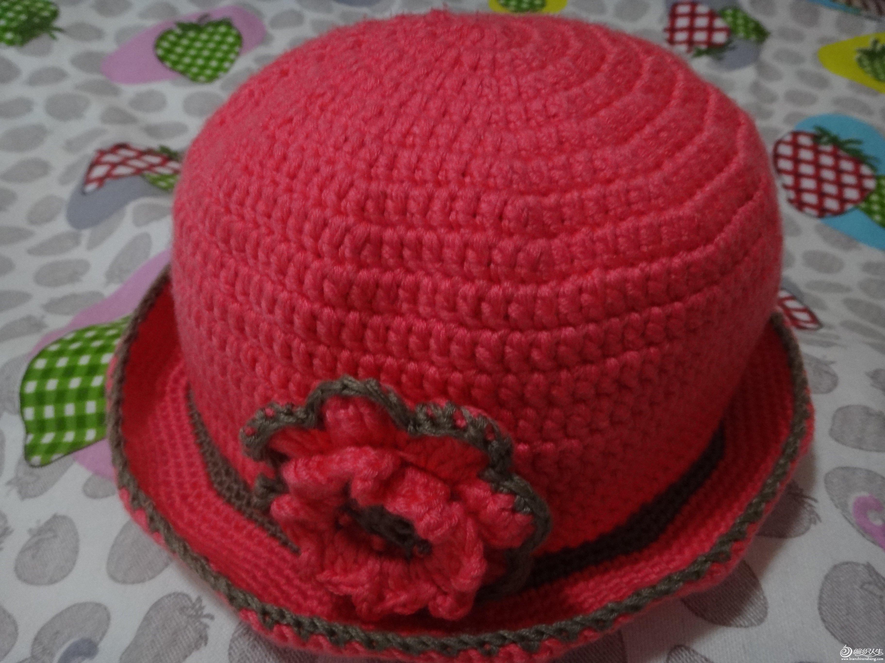 带帽檐的花朵帽子(适合大人小孩老人)
