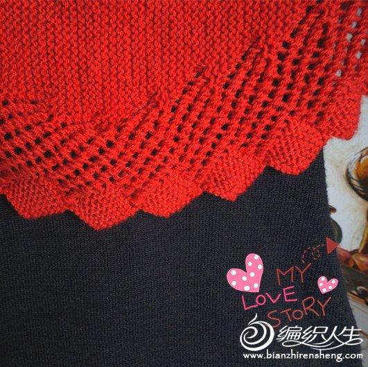 手工棒针编织的一款极美披肩