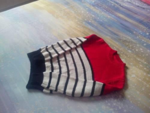【素娥】(2014—02)好儿男——红白黑经典条纹套头衫 - 素娥 - 宁静的港湾