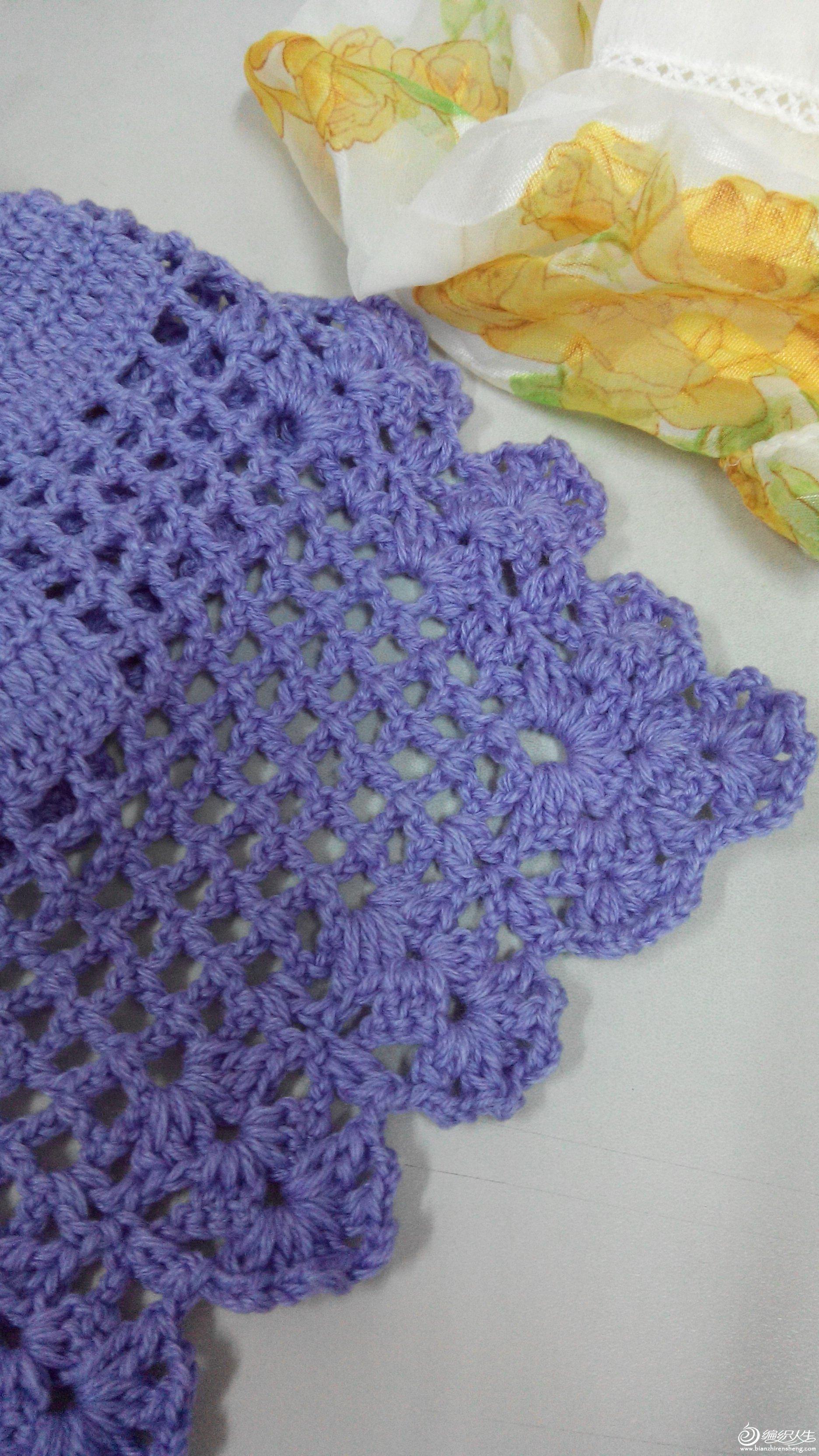 蝴蝶围巾图解