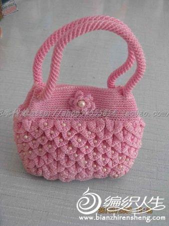 这个包包的花怎么钩?
