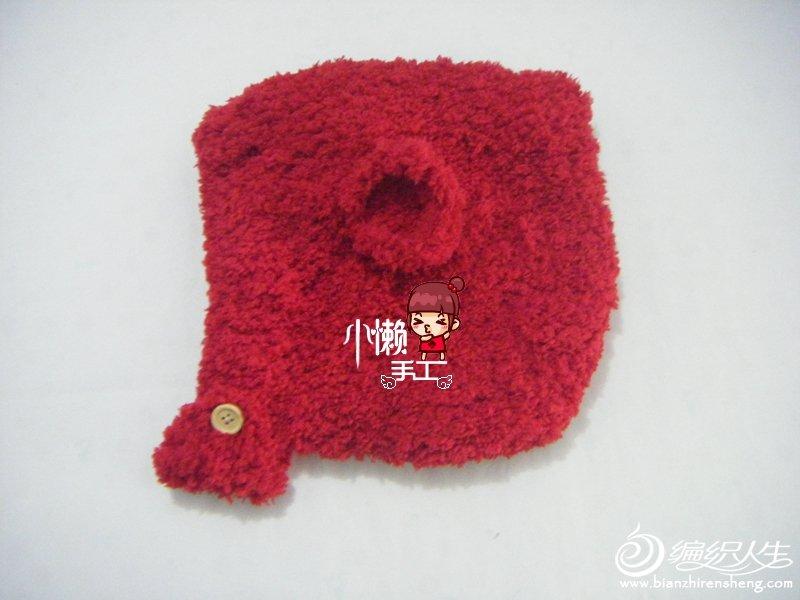 教你织可爱棒针织绒绒线精灵帽子