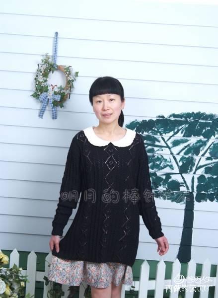 辣妈孙俪款:黑色超长宽松版 - 手有于香 - 手有于香的博客