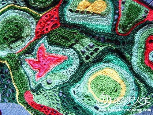 爱尔兰系列-随心所欲钩针编织的包包,美哉!高清图片