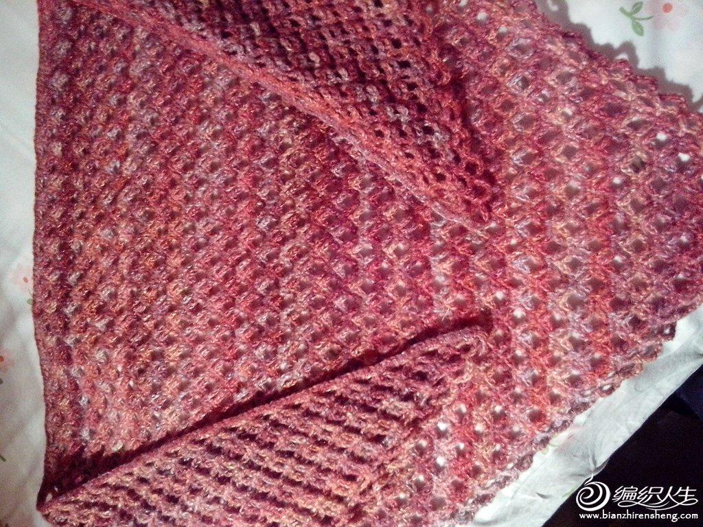 三角钩针编织披肩图解d织毛线教程(67)d织披肩的花样图解视频