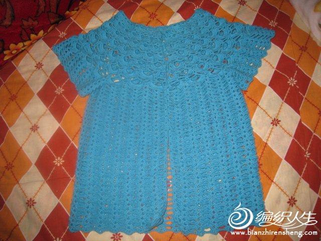 新手做的宝宝开衫毛衣,从上往下钩