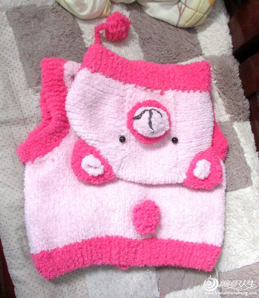 小熊背心(毛巾线)宝宝一岁,能穿到2岁.