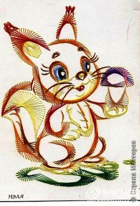 分享:儿童手工:美丽的动物绣