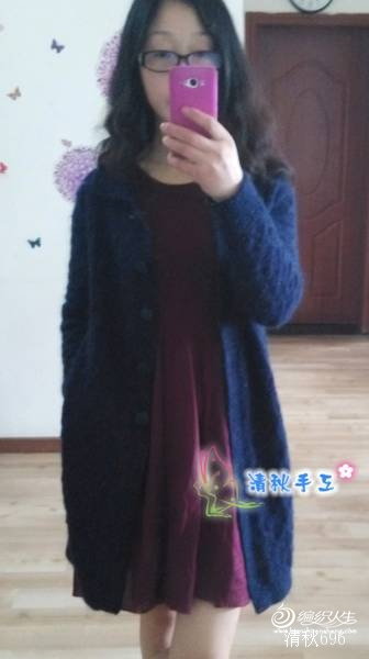 【清秋手工】——蓝雨——百搭长外套 - 手有于香 - 手有于香的博客